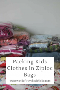 Packing Kids Clothes In Ziploc Bags