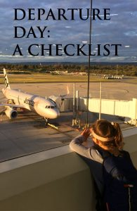 Departure Day Travel Departure Checklist