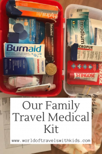 Our Family Travel Medical Kit