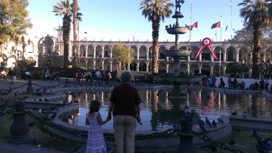 plaza-arequipa-peru-with-kids