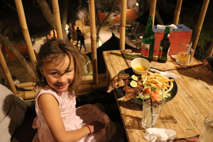 Bali with kids, eating out in Bali