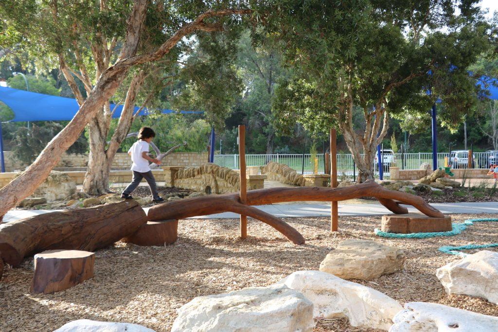 children playing at the park in perth western australia