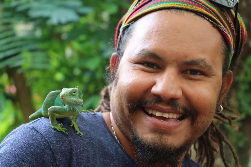 Fun Facts about Fiji for Kids - an iguana