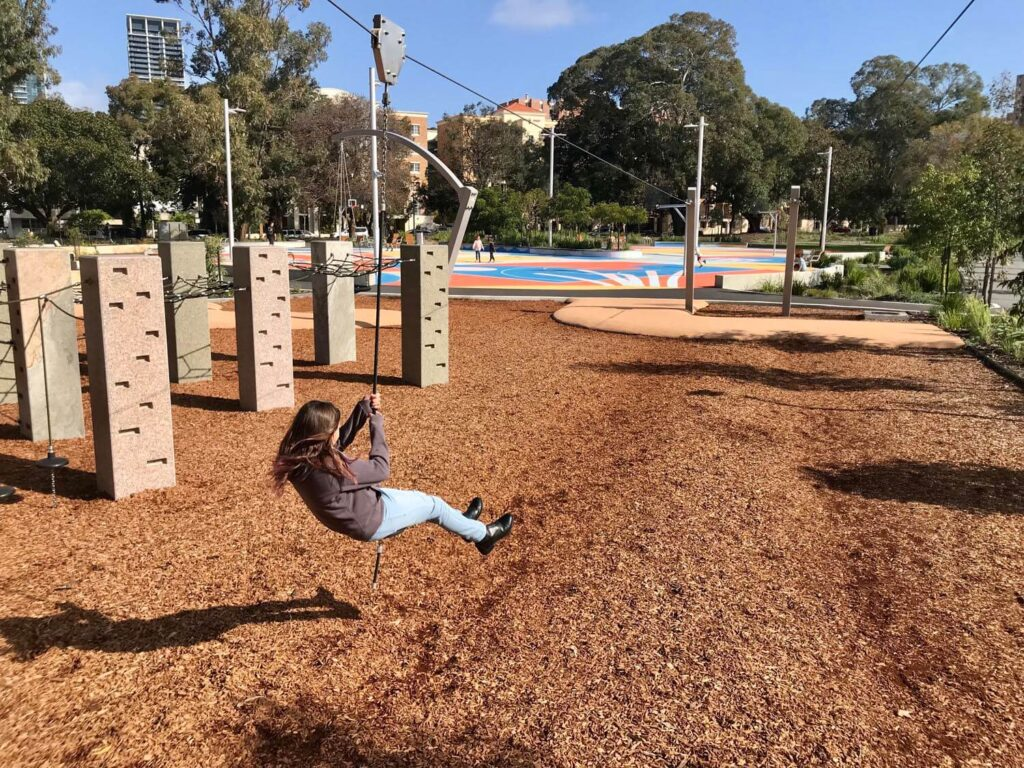 Play Areas in the New Wellington Square Playground