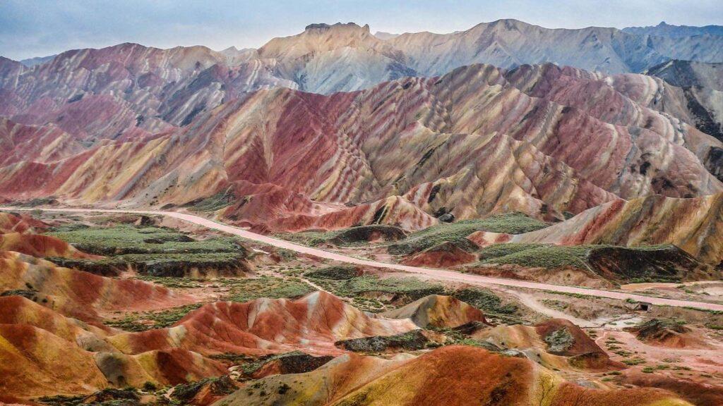 Rainbow Mountains of China
